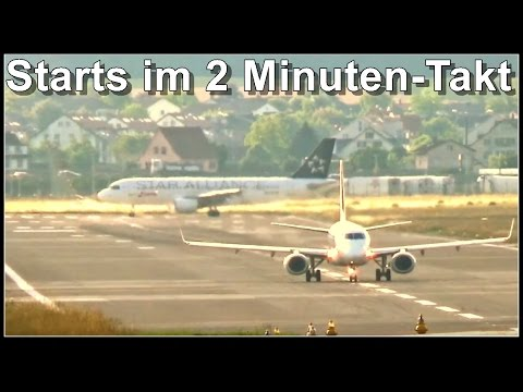 Plane spotting Zürich Airport / LSZH / ZRH - Take off Runway 28