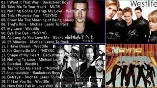 Westlife, Backstreet Boys, NSYNC, MLTR Greatest Hits Playlist Full album 2021 Best Of Boybands Songs