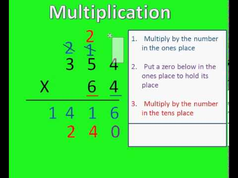 Multiplication of 2 and 3 Digit Numbers - YouTube