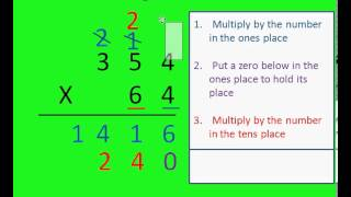 Multiplication of 2 and 3 Digit Numbers