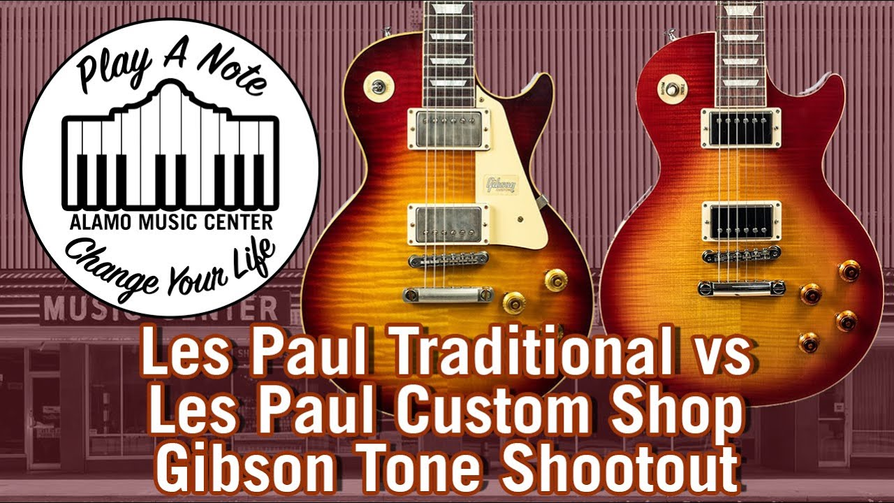 2019 les paul traditional vs les paul custom shop 59 standard a gibson tone shootout youtube. Black Bedroom Furniture Sets. Home Design Ideas