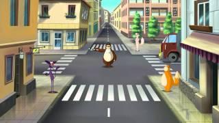 Азбука безпеки на дорозі тітоньки Сови - Світлофори і перехрестя (Уроки тетушки Совы) серия 6