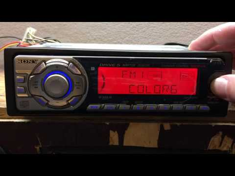 Sony CDX-F5710 CD Player Car Deck From 2005
