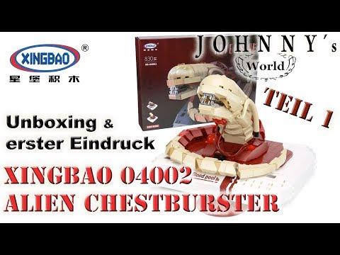 XingBao 04002 Alien Chestburster - Alienbaby! Unboxing und erster Eindruck - Review auf Deutsch