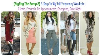 {Styling The Bump 2} My Fall Pregnancy Looks | Clients, Errands, Dr Appts, Shopping, Date Night Thumbnail