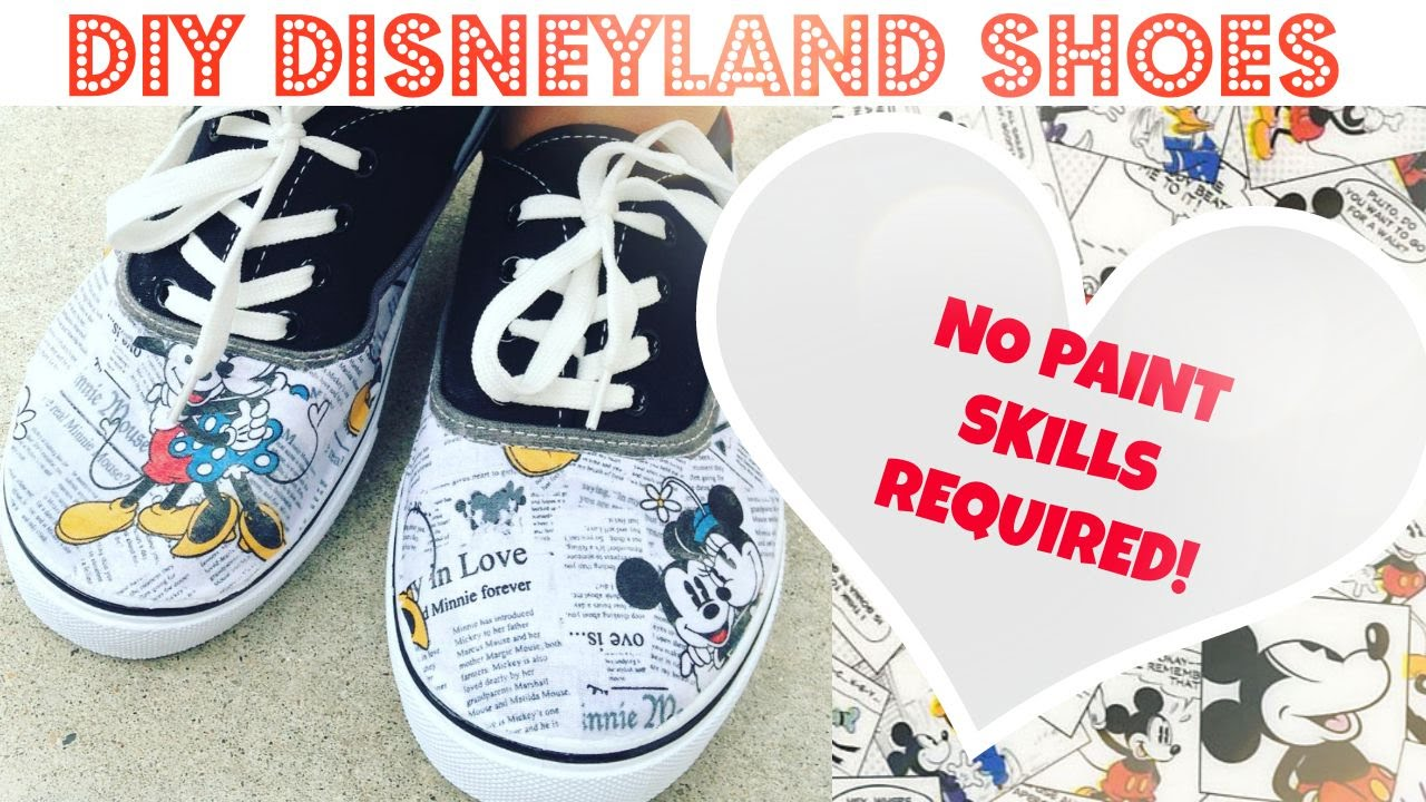 bc6c781aebc3 DIY No Paint DISNEY SHOES Under  15! - YouTube