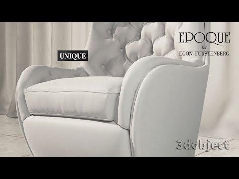 3d моделирование кресла Epoque Unique в 3dsMax, Marvelous Designer | 3d Modeling | Armchair