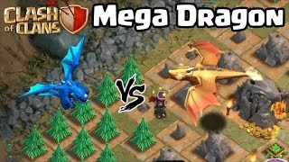Mega/Giant Dragon Vs Electro Dragon/ level 60 Queen In clash of clans ||
