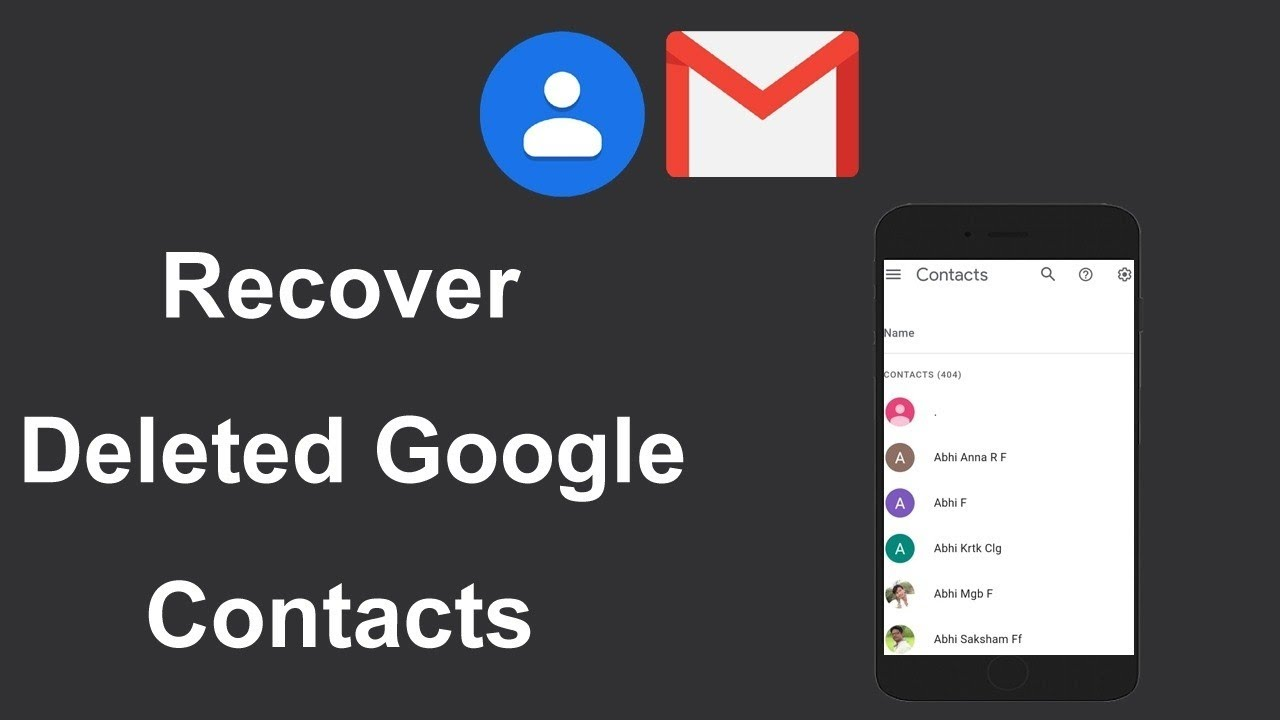 How To Recover Deleted Contacts From Gmail In Android Phone Easily - YouTube