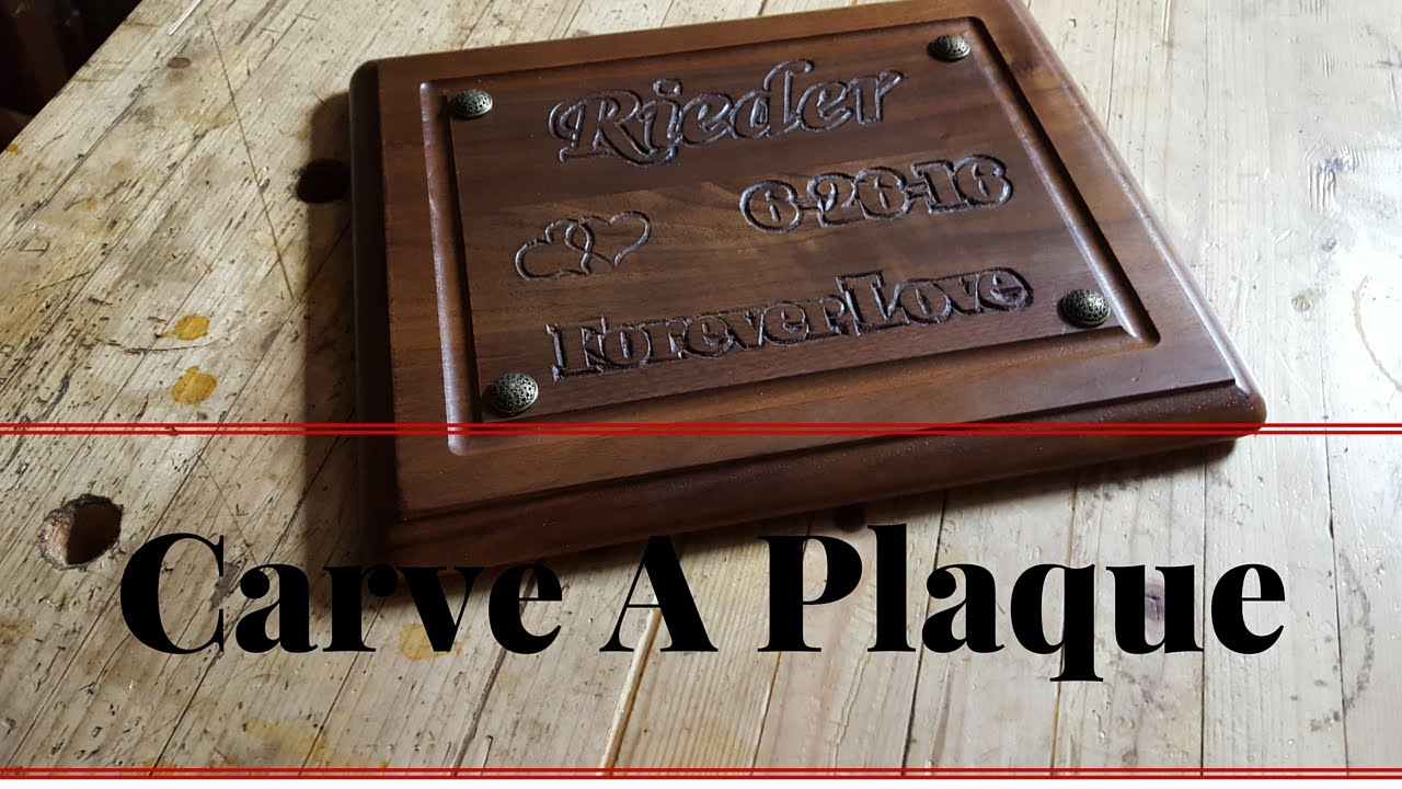 How to carve letters in a plaque with simple hand tools youtube