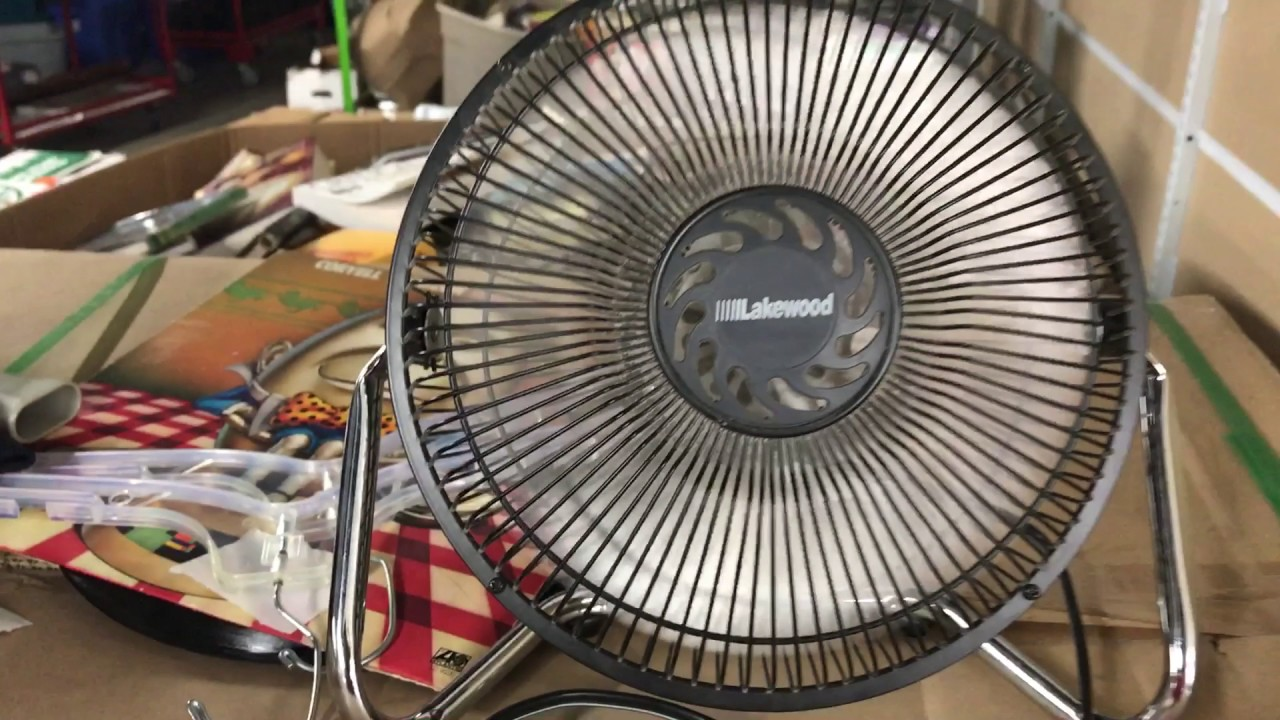 Lakewood Desk Fan Quick Test