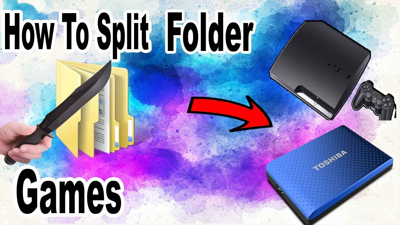 How To Split Any Large Folder Games For Your PS3 HDD ( Very Easy ) by billy  kibaki __ the jamaican