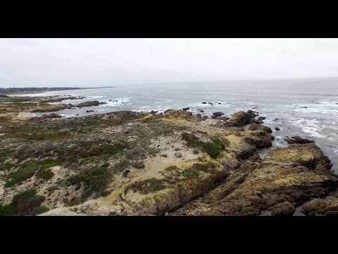 Drone flight over Pebble Beach and 17-Mile Drive