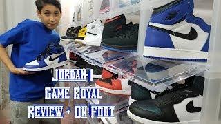 "4K Review & On Feet! Jordan Retro 1 ""Game Royal"" GS!"