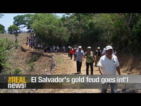 El Salvador's gold fight goes international
