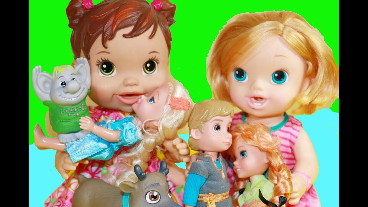 Baby Alive Frozen Disney Elsa Anna Toddler Dolls Playdate