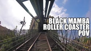 Riding Black Mamba Roller Coaster at Phantasialand with TPR! POV Germany