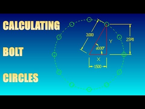 CALCULATING A BOLT HOLE CIRCLE - YouTube