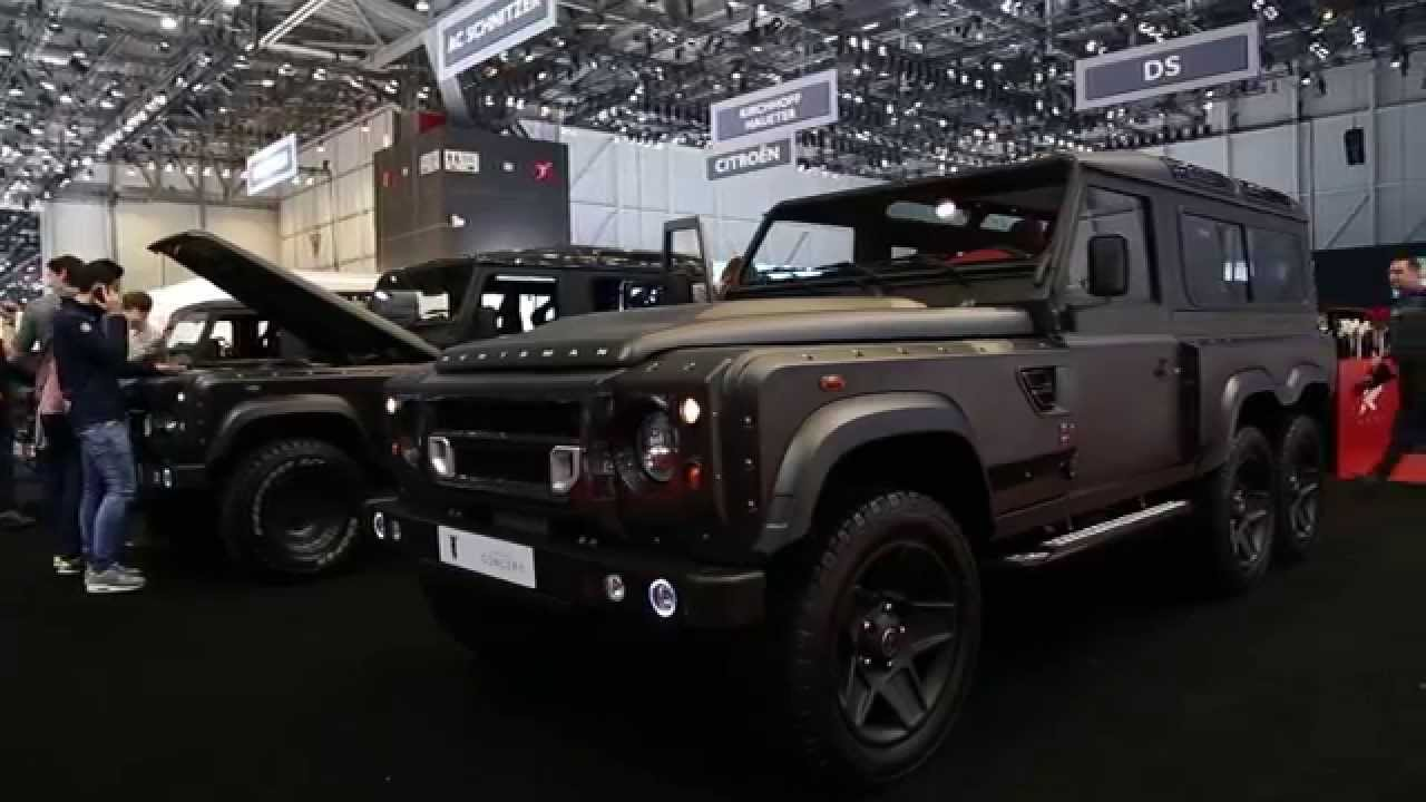 Kahn tv land rover defender flying huntsman 6x6 concept unveiled at the geneva motor show 2015 youtube