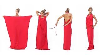 Платье в пол с открытой спиной (платье-трансформер