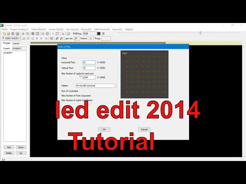 How to programme T1000S controller with led edit 2014 software