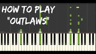 "How To Play ""Outlaws"" Synthesia Tutorial- The Fosters"