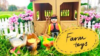 Farm Animals Toys Playset For Kids/ Игра с Животными Фермы для Детей