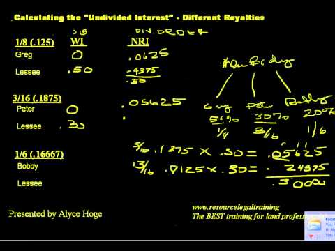 Calculating Undivided Interest - Different Royalties.avi
