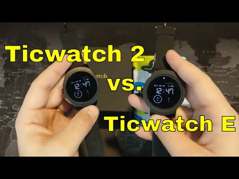 Ticwatch 2 vs. the Ticwatch E: Which is right for you?  Coupon code in the description!