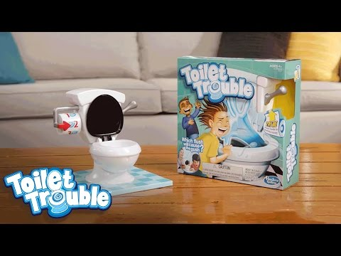 Toilet Trouble 'Face the Flush' Official TV Commercial - Hasbro Gaming