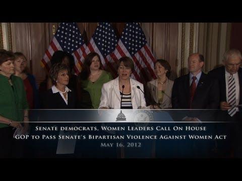 Senate Democrats, Women Leaders Call On House To Pass Senate VAWA Bill
