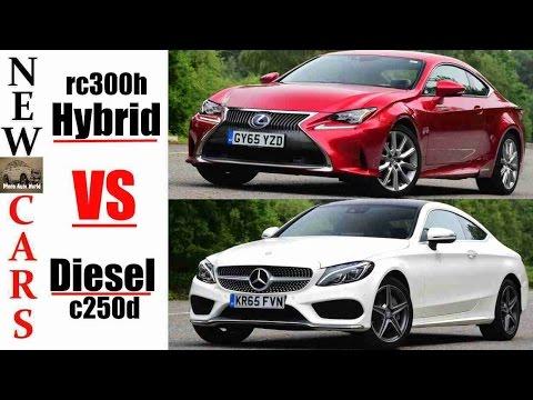 2017 mercedes c-class coupe vs lexus rc | diesel vs hybrid | c250d