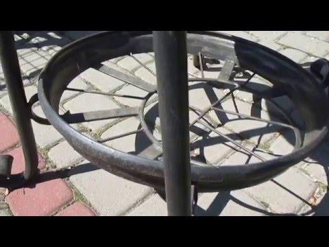 Купить мангал Киев, стационарный мангал, мангал с крышей
