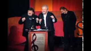 randy bachman burton cummings are inducted into the cshf award presented by gordon lightfoot