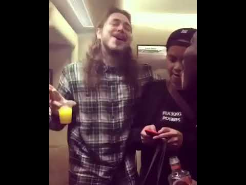 Post Malone sings Tongue Tied
