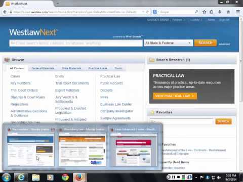 Finding Sources in Bloomberg Law, Lexis Advance and WestlawNext