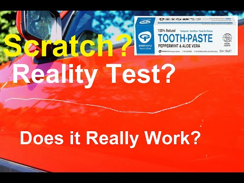 Does toothpaste really remove scratches from car? Reality test..