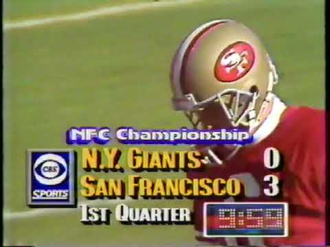 1990 NFC Championship Game NY Giants vs San Francisco 49ers