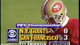 1990 NFC Championship Game NY Giants vs San Francisco 49ers