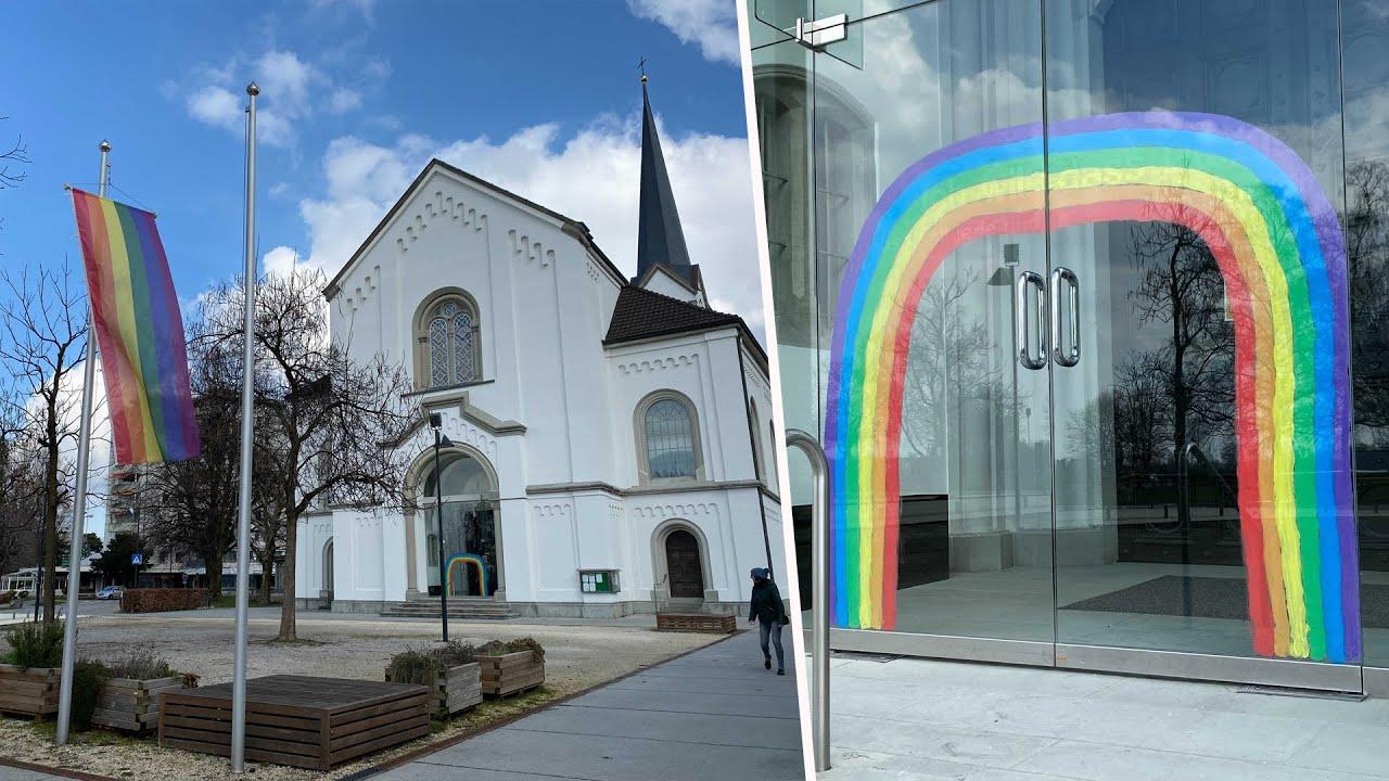 Regenbogen zeichen von verstorbenen