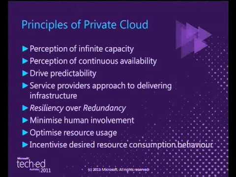 Tech·Ed Australia 2011 Best Practices for Private Cloud Implementation