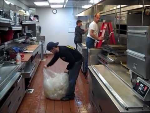 kitchen exhaust cleaning lacquer cabinets what happens at a - youtube