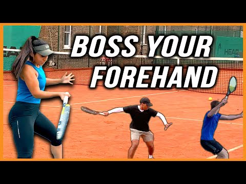 Tennis Forehand Drills | How To Hit The Ball On The Rise (HIT MORE WINNERS!!!)