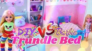VERSUS: Barbie Chelsea Trundle Bed VS DIY Custom Trundle Bed