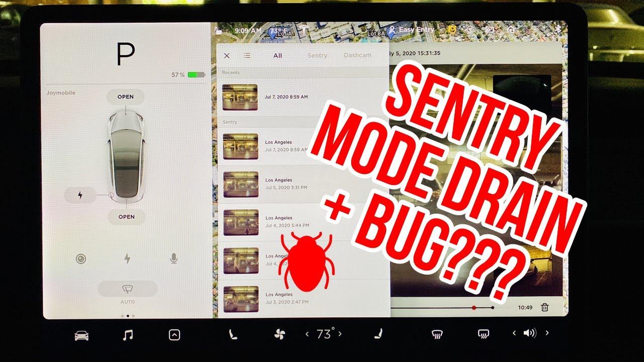 Testing Tesla Sentry Mode Drain & I Discovered A Bug!