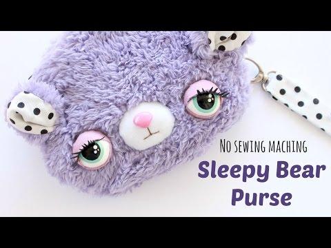 DIY Kawaii Purse | Sleepy Bear Purse Sewing Tutorial | Kawaii Crafts