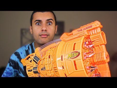 Thumbnail: MOST DANGEROUS NERF MOD OF ALL TIME!!! (EXTREME NERF GUN!) THE NEW JUDGE!! *INSANLY DANGEROUS*