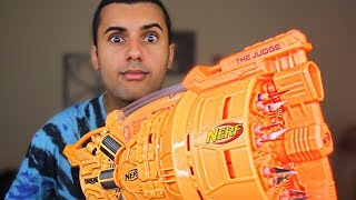 MOST DANGEROUS NERF MOD OF ALL TIME!!! (EXTREME NERF GUN!) THE NEW JUDGE!! *INSANLY DANGEROUS*