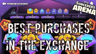 Get more from your Exchange currencies Progress faster by spending wisely Disney Sorcerer's Arena