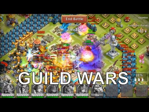 Castle Clash Guild Wars Runs! Random Talk!